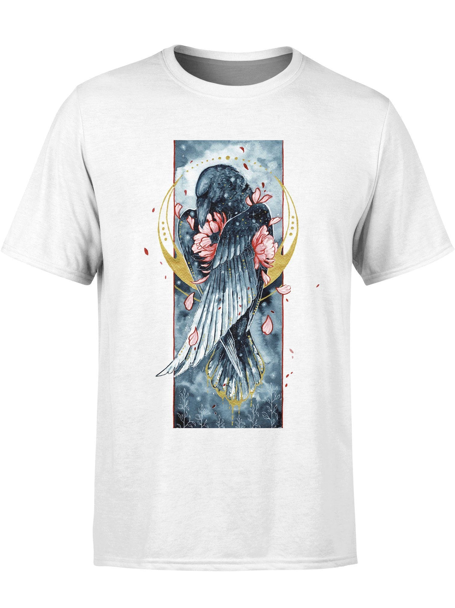 Golden Raven Unisex Crew T-Shirts Electro Threads