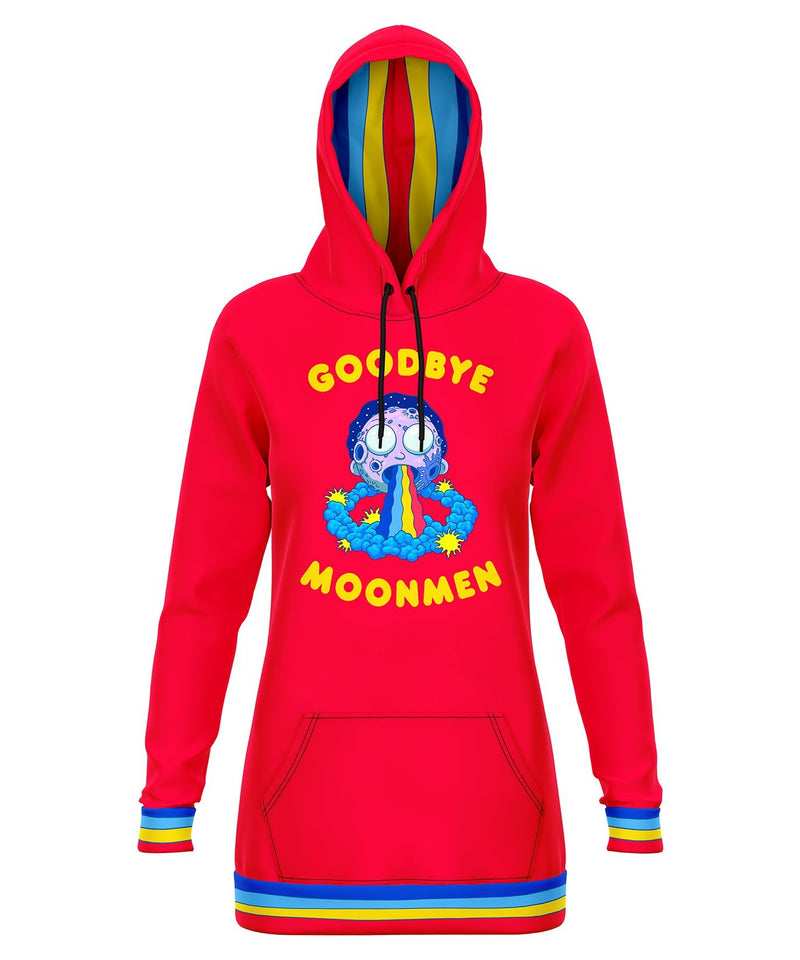Goodbye Moonmen Hooded Dress Hoodie Dress Electro Threads