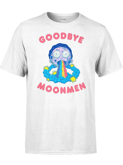 Goodbye Moonmen Unisex Crew T-Shirts Electro Threads XS White
