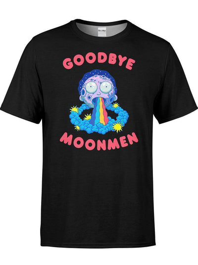 Goodbye Moonmen Unisex Crew-T-Shirts-Rick and Morty Licensed Apparel-Electro Threads