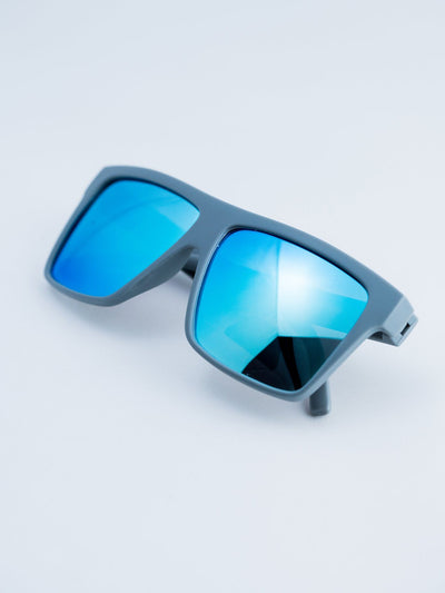 Gray – Polarized Blue Chrome Lensed Sunglasses Glasses Electro Threads