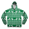 Green Christmas Reindeer Unisex Hoodie Pullover Hoodies Electro Threads X-Small
