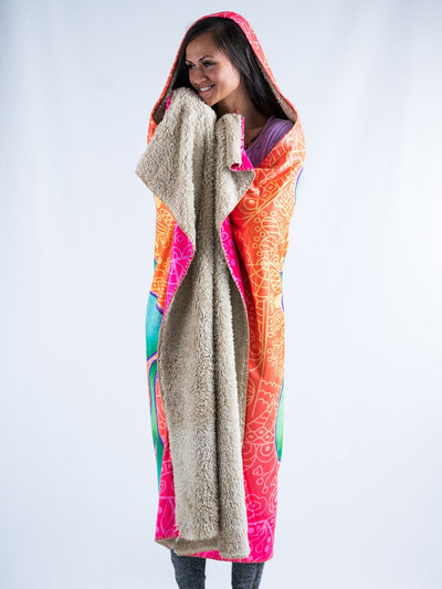 Groovy Vibes Hooded Blanket Hooded Blanket Electro Threads