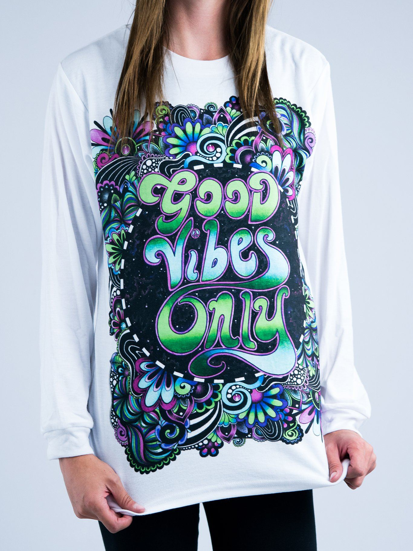 Groovy Vibes Unisex Long Sleeve Shirt Long Sleeve Electro Threads X-Small Long-Sleeve