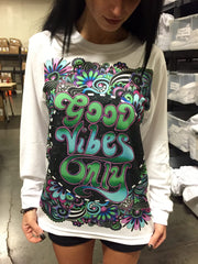 Groovy Vibes Unisex Long Sleeve Shirt Long Sleeve Electro Threads