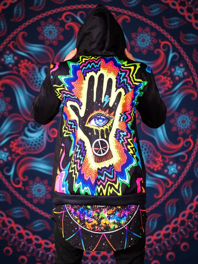 Hand of the Universe Back Panel Unisex Hoodie Pullover Hoodies T6
