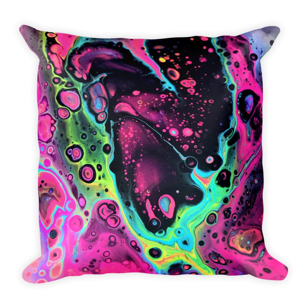 Heart Melt Throw Pillow Electro Threads