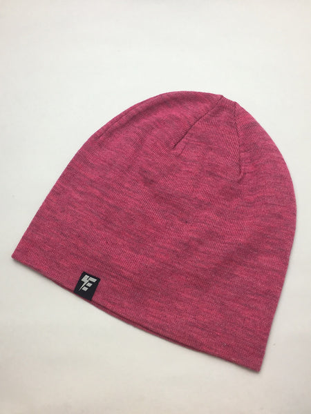 Heather Fuchsia Slouch Beanie Hat Electro Threads