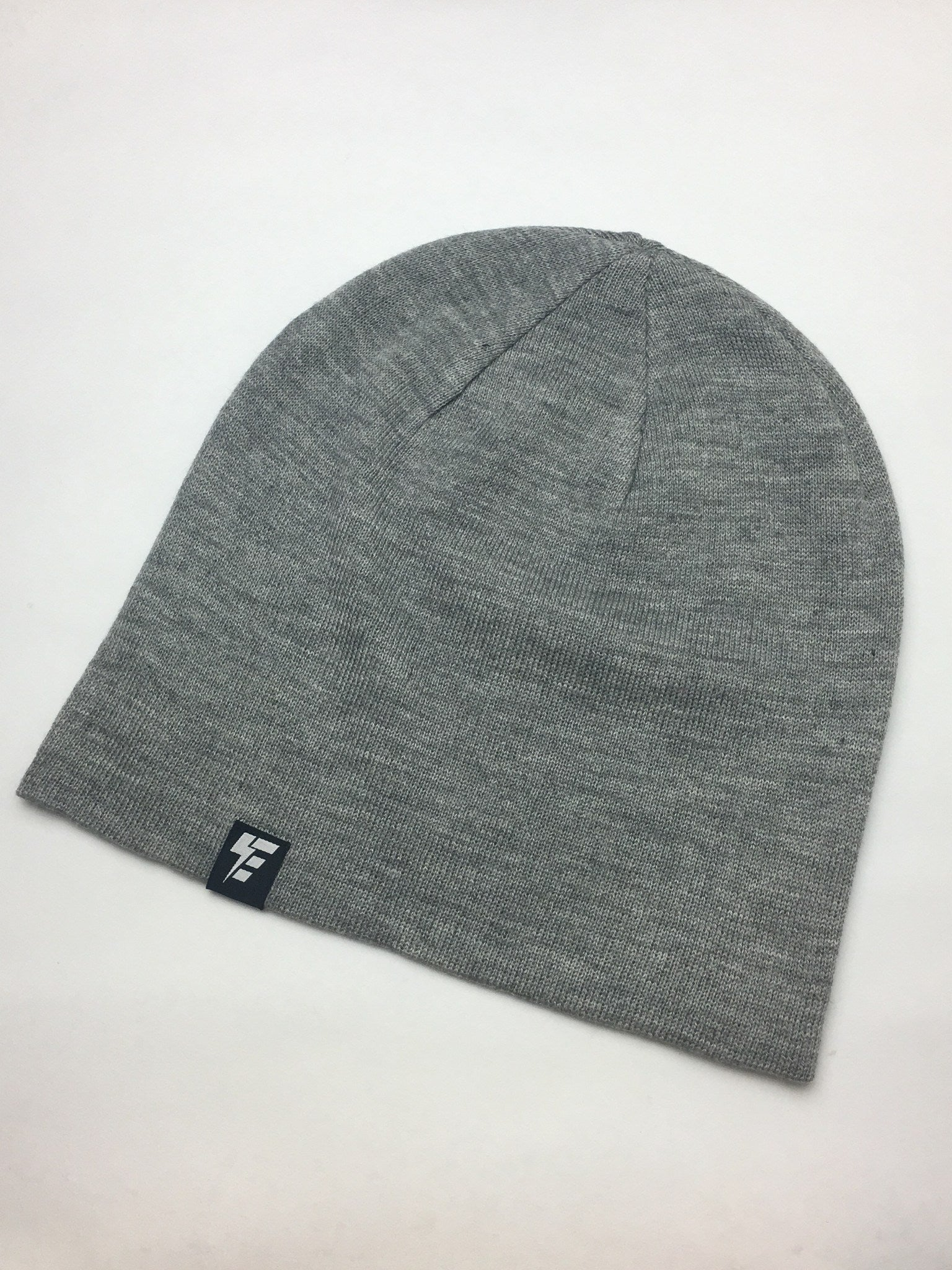 Heather Grey Slouch Beanie Hat Electro Threads