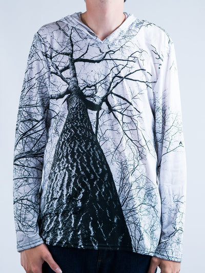 Higher Trees Unisex Hooded Long Sleeve Shirt Long Sleeve T6