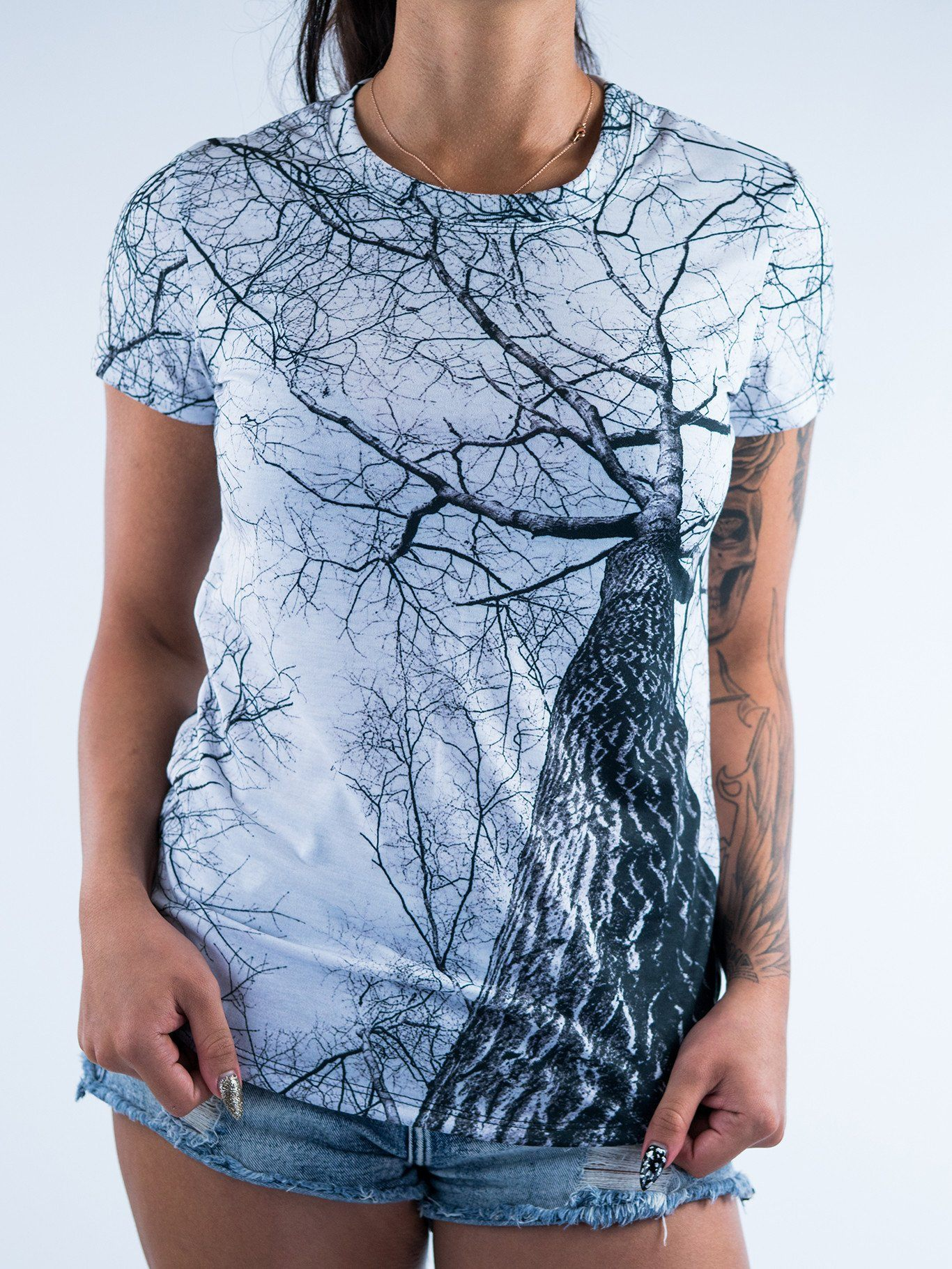 Higher Trees Women's Crew T-Shirts T6