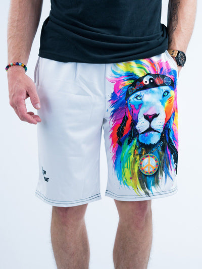 Hippie Lion Shorts Mens Shorts T6