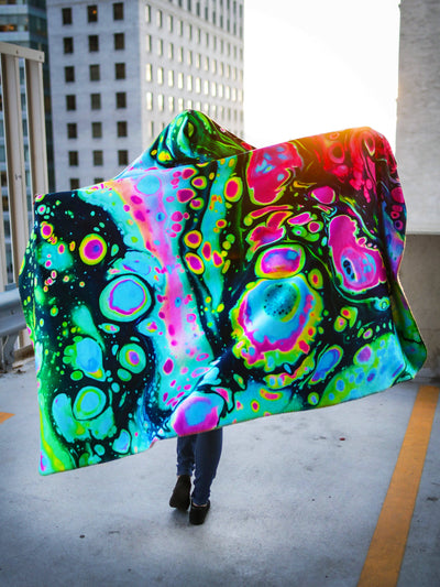 Holo Melt Hooded Blanket Hooded Blanket Electro Threads