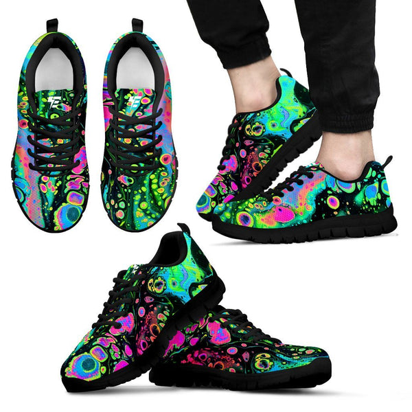 Holo Melt Men's Sneakers Sneakers Electro Threads Men's Sneakers - Black - Holo Melt US5 (EU38)