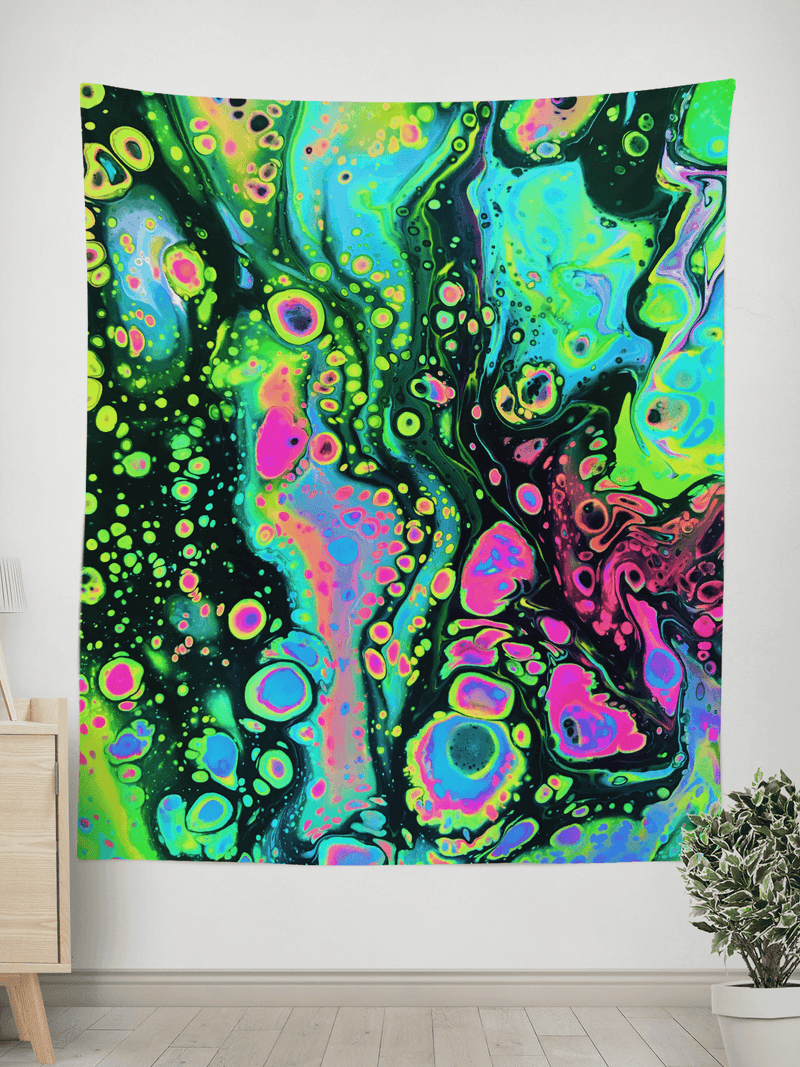 Holo Melt Wall Tapestry Tapestry Electro Threads