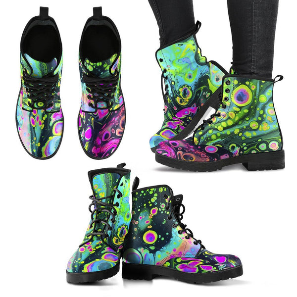 HOLO MELT Women's Leather Boots Women's Leather Boots Electro Threads