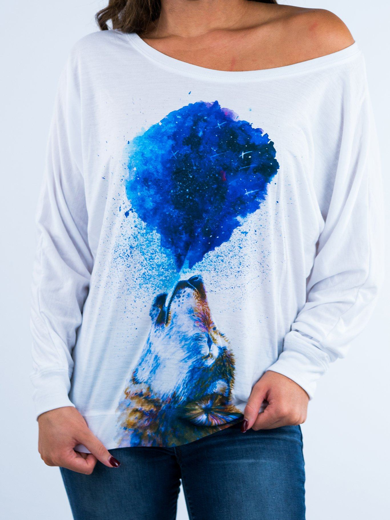 Howling Wolf Flowy Off Shoulder Off Shoulder Electro Threads