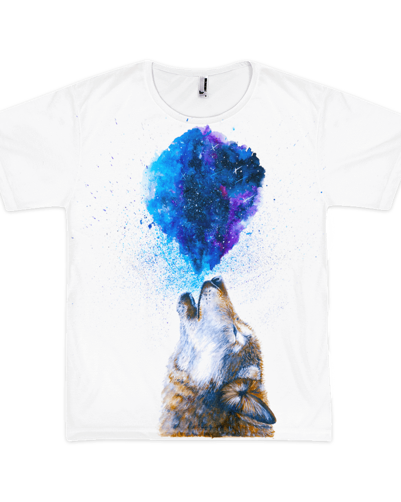 Howling Wolf Unisex Crew T-Shirts Electro Threads