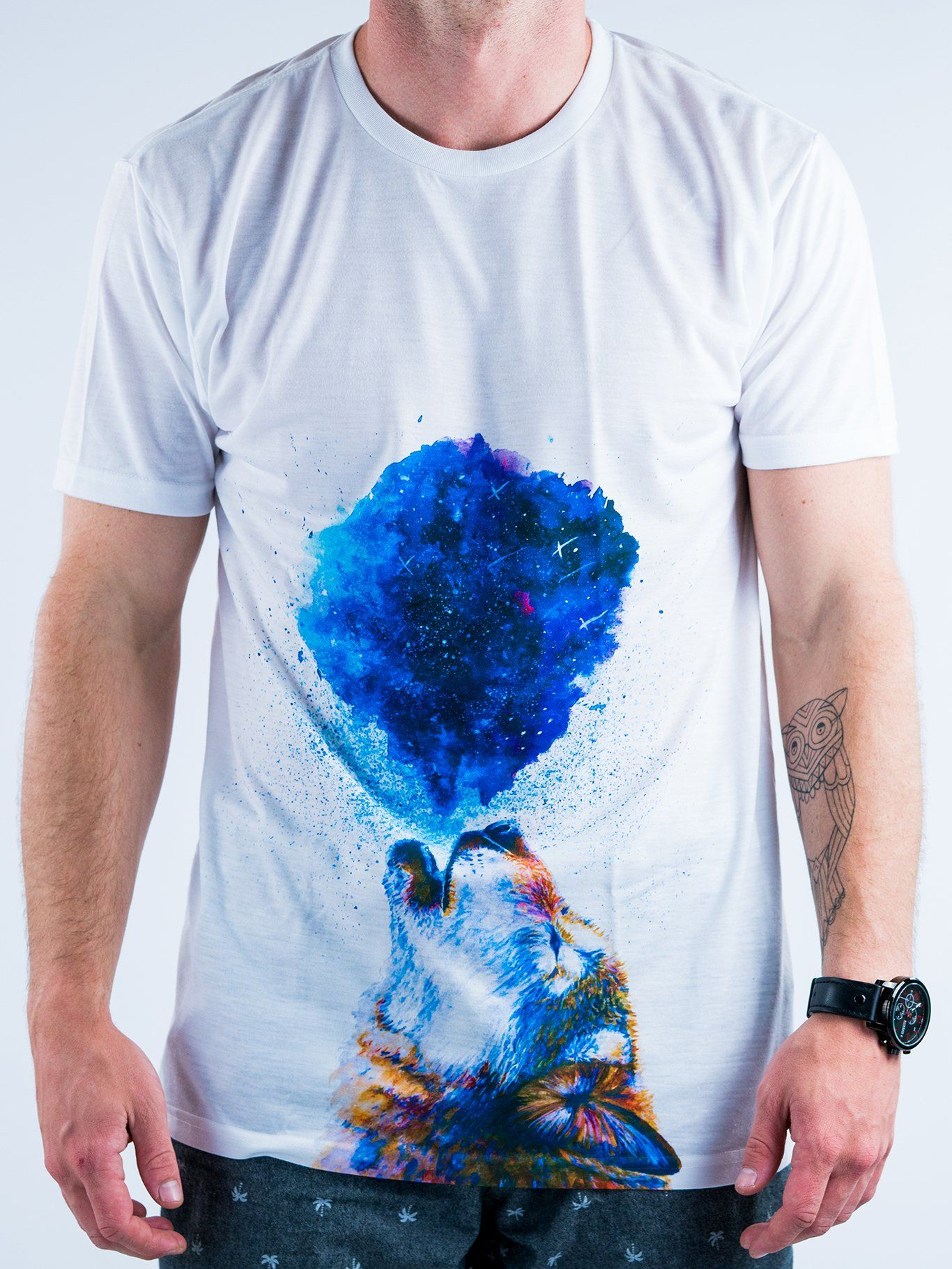 Howling Wolf Unisex Crew T-Shirts Electro Threads X-Small
