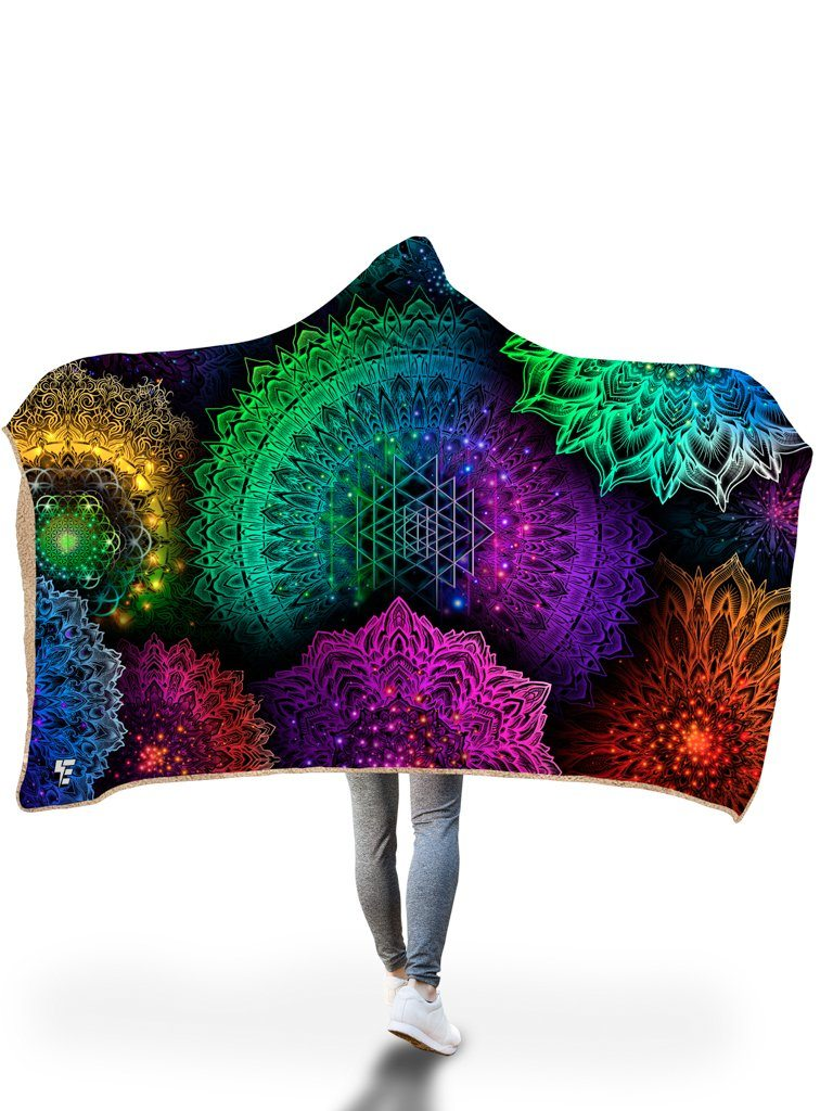 Illuminated Mandala Hooded Blanket Hooded Blanket Electro Threads
