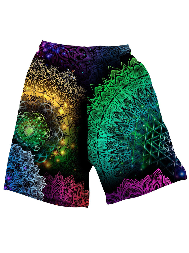 Illuminated Mandala Shorts Mens Shorts Electro Threads
