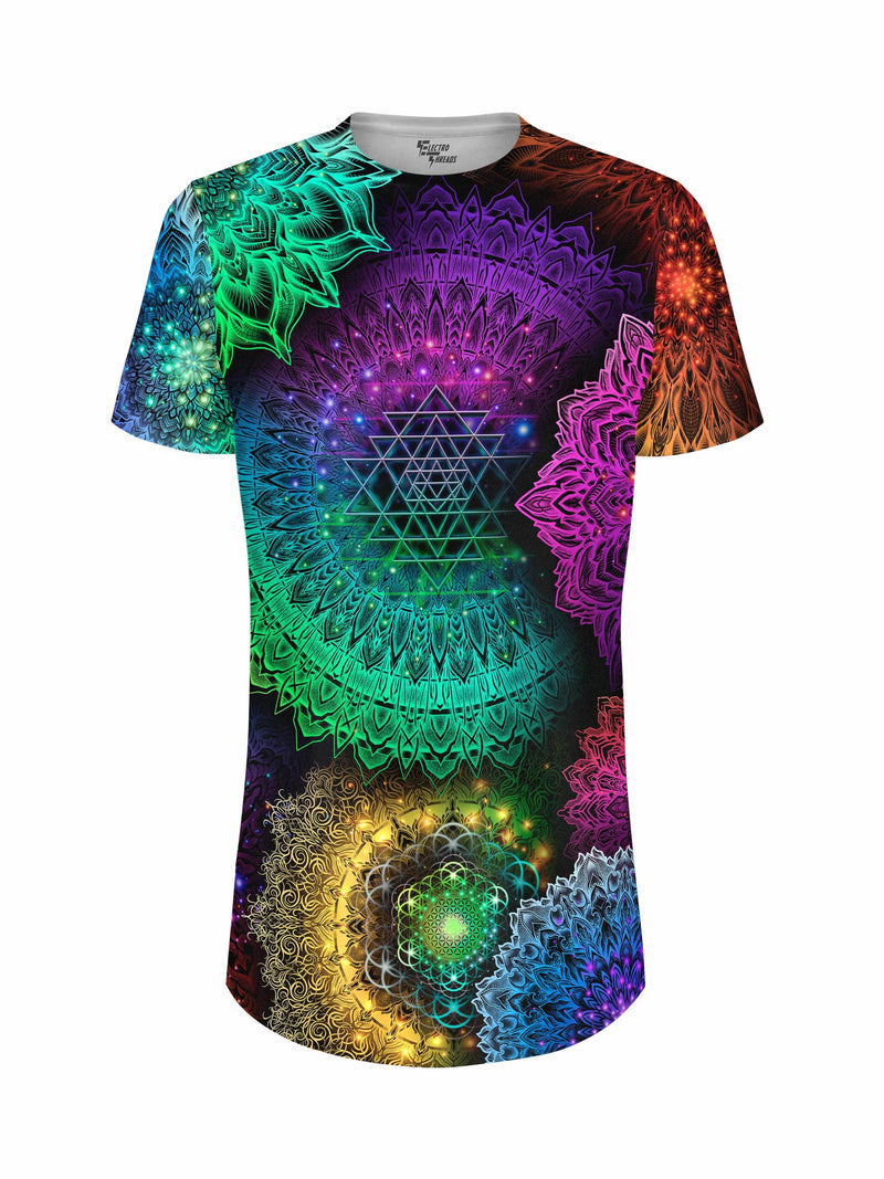 Illuminated Mandala Tall Tee Mens Tall Tee Yantrart