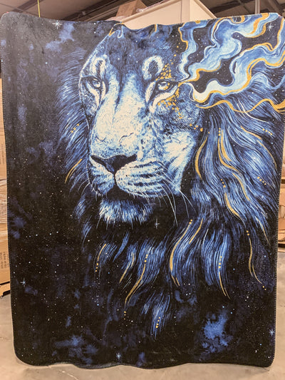 In The Darkness Lion Blanket Blanket Electro Threads