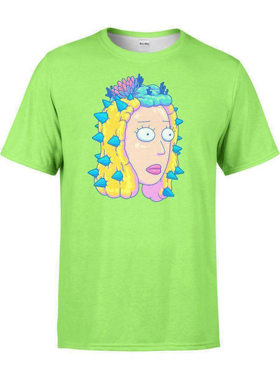 Infected Beth Unisex Crew-T-Shirts-Rick and Morty Licensed Apparel-Electro Threads