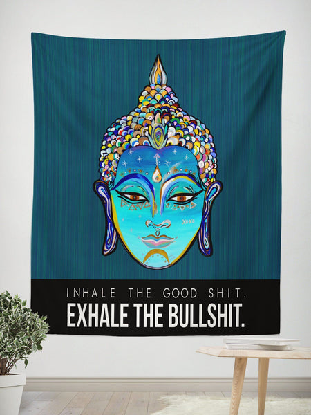 Inhale Exhale Wall Tapestry Tapestry Electro Threads
