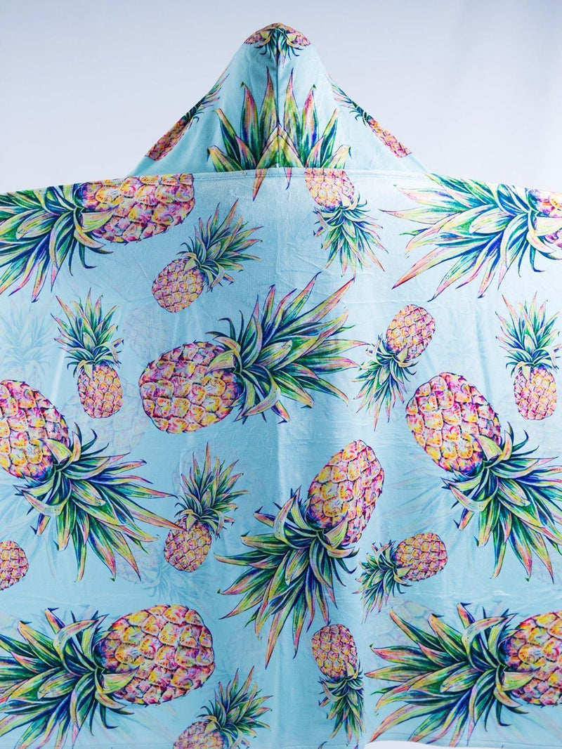 Kids Pastel Pineapple Hooded Blanket Hooded Blanket Electro Threads