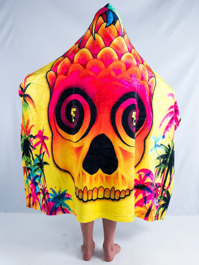 Kids Pineapple Daze Hooded Blanket Hooded Blanket Electro Threads