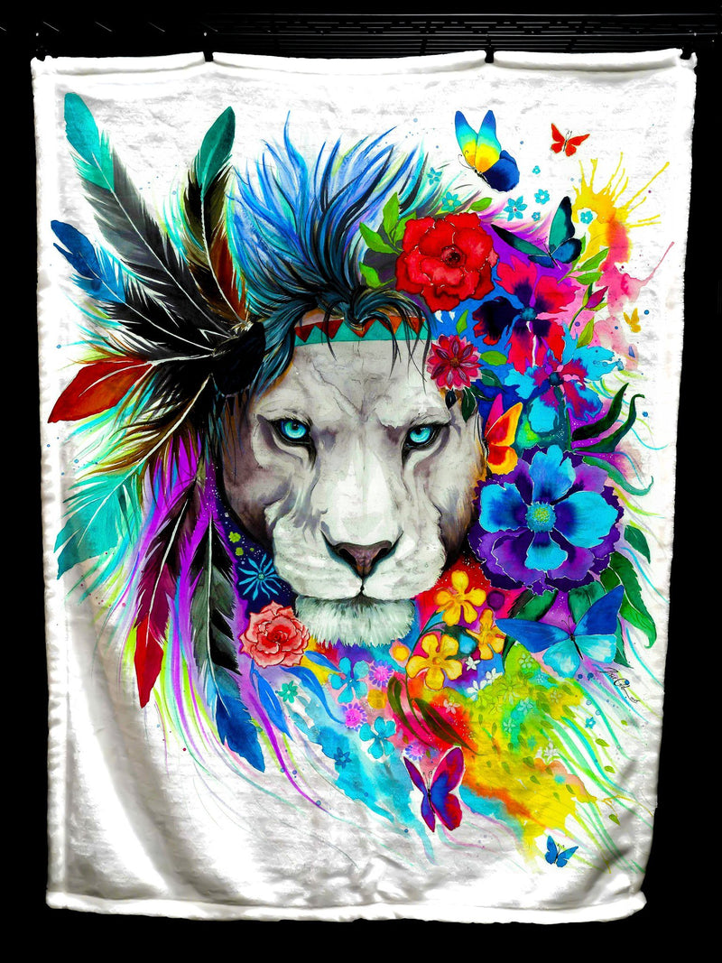 King Of Lions Baby Blanket Baby Blanket Electro Threads