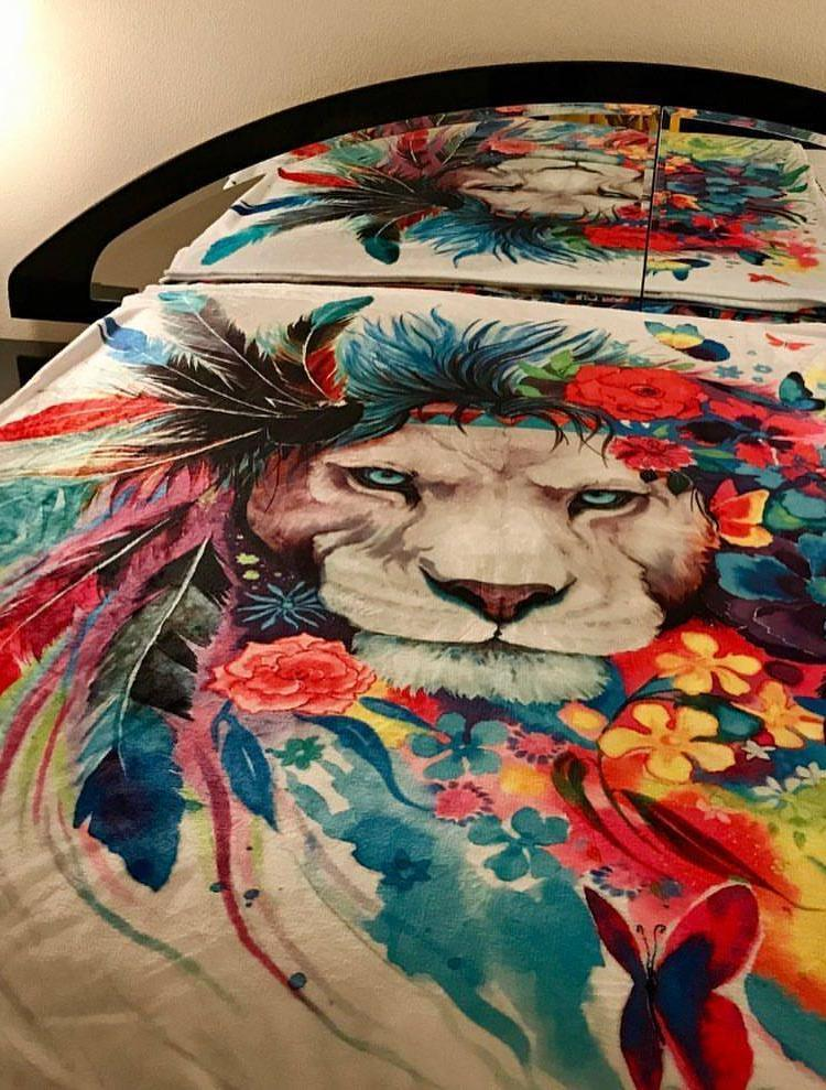King of Lions Blanket Blanket Electro Threads