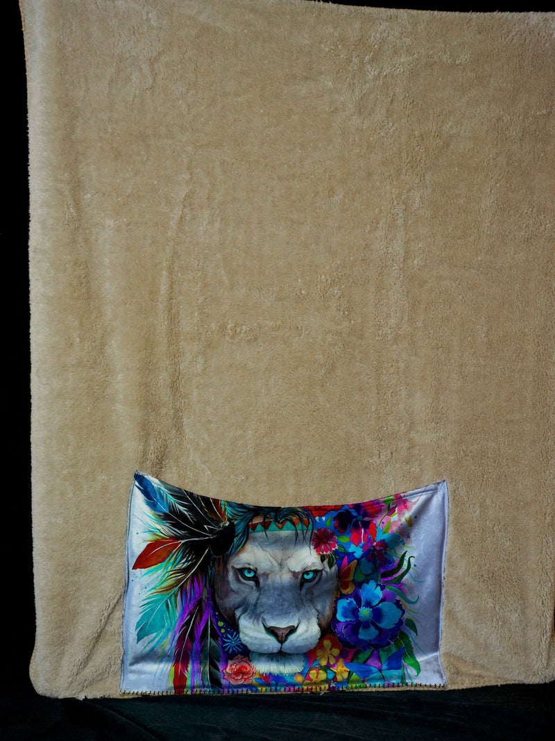 KING OF LIONS FOOTSIE BLANKET Footed Blanket Electro Threads