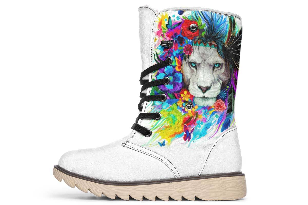 King Of Lions Moon Boots YWF Women's Moon Boots Cream White Sole US 4.5 / EU35