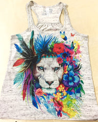 King of Lions Premium Racerback Tank Tank Tops Electro Threads