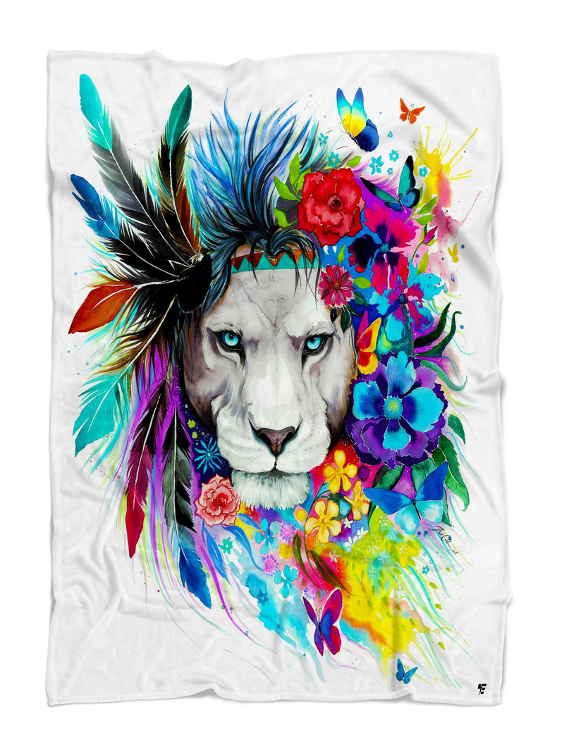 King of Lions Premium Sherpa Blanket Blanket Electro Threads