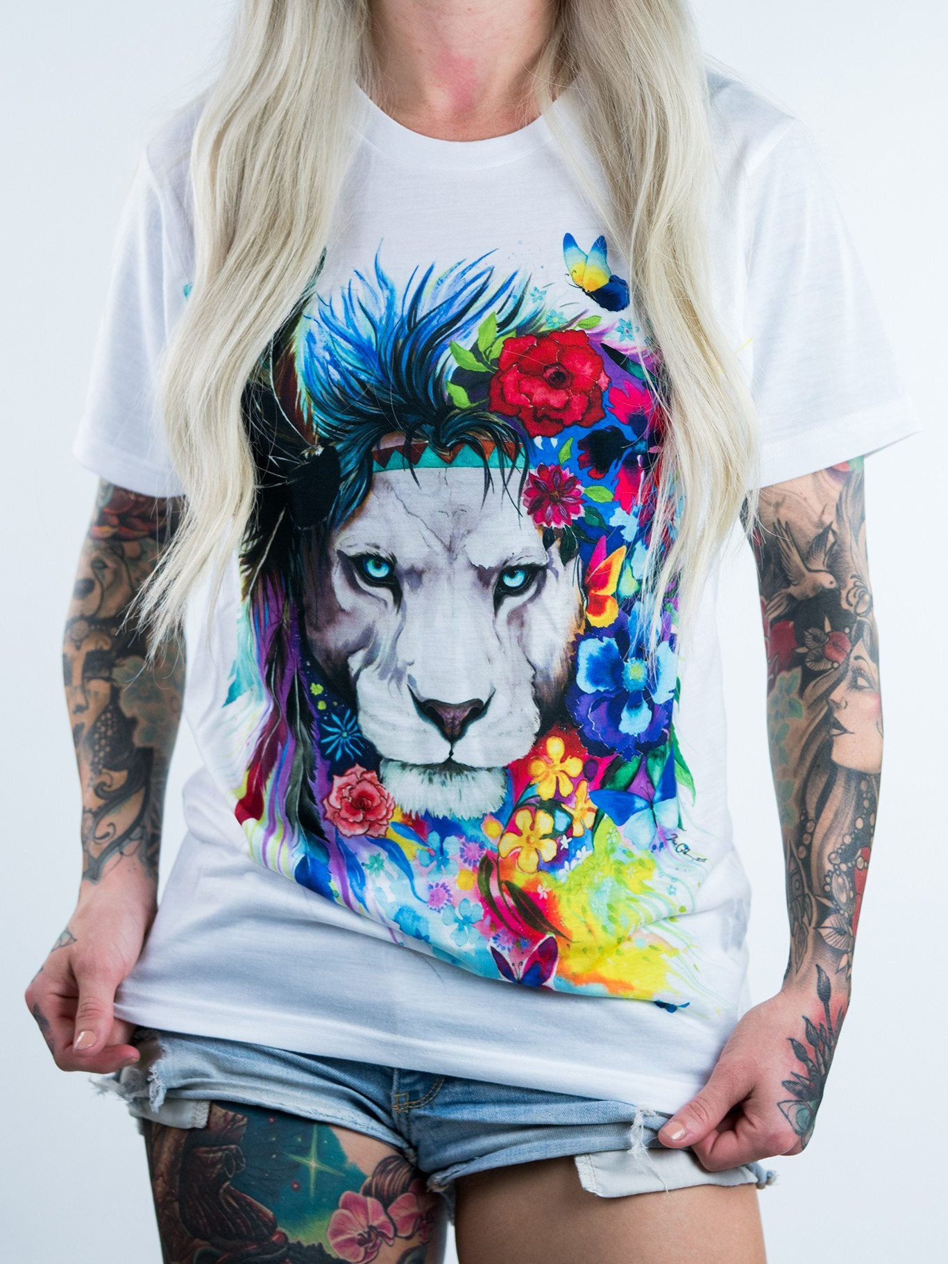 King of Lions Unisex Crew T-Shirts Electro Threads X-Small
