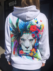 King of Lions Unisex Hoodie Pullover Hoodies Electro Threads