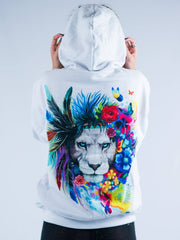 King of Lions Unisex Hoodie Pullover Hoodies Electro Threads Small