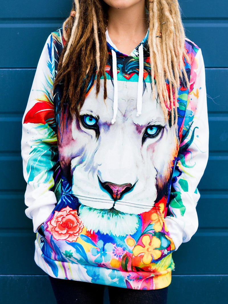King of Lions Unisex Hoodie Pullover Hoodies T6