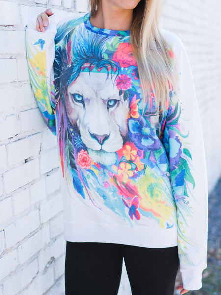 King Of Lions Vintage Sweatshirt Sweatshirt T6