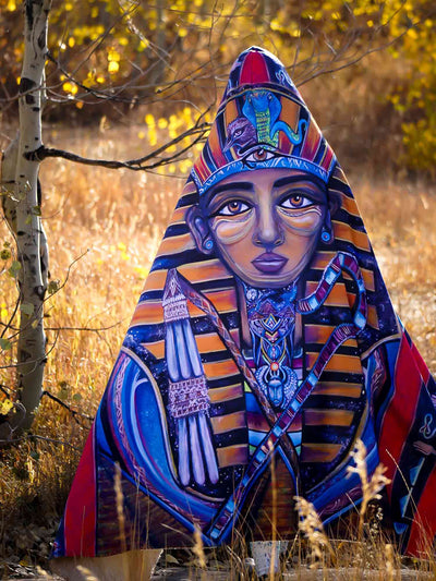 King Tut Hooded Blanket Hooded Blanket Electro Threads