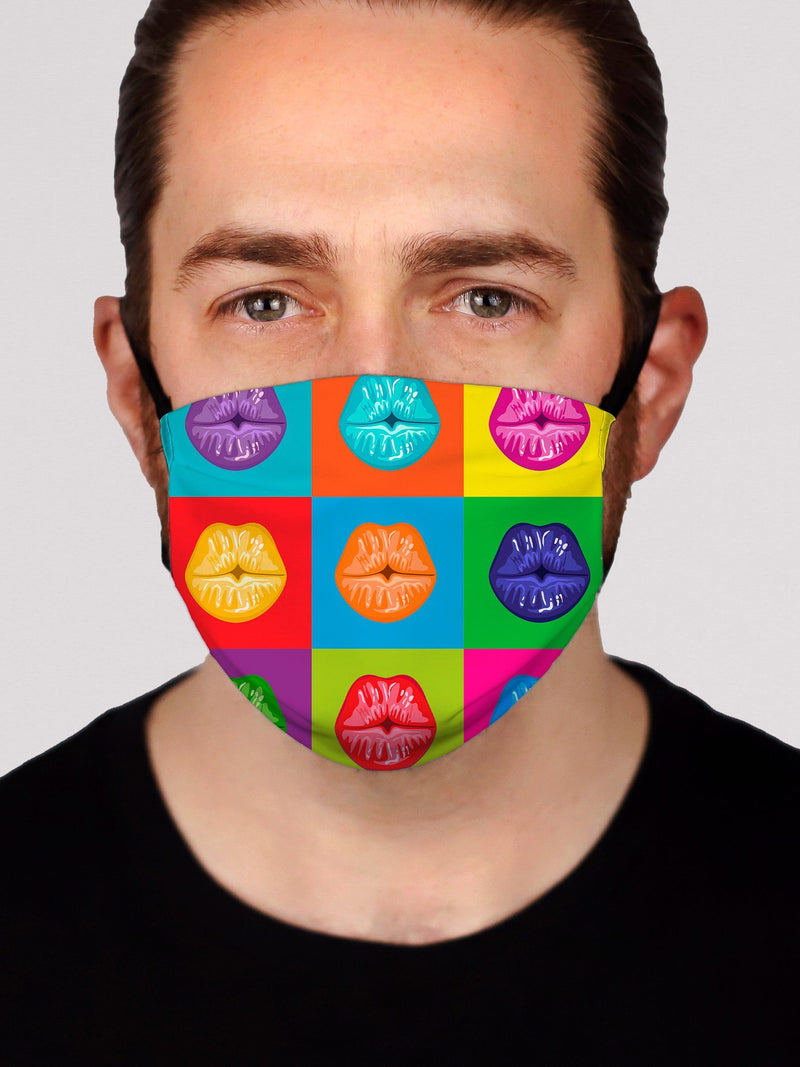 Kiss My Lips Face Mask Face Masks Electro Threads