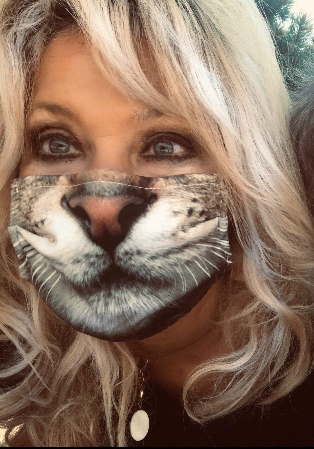 Kitty Cat Face Mask Face Masks Electro Threads