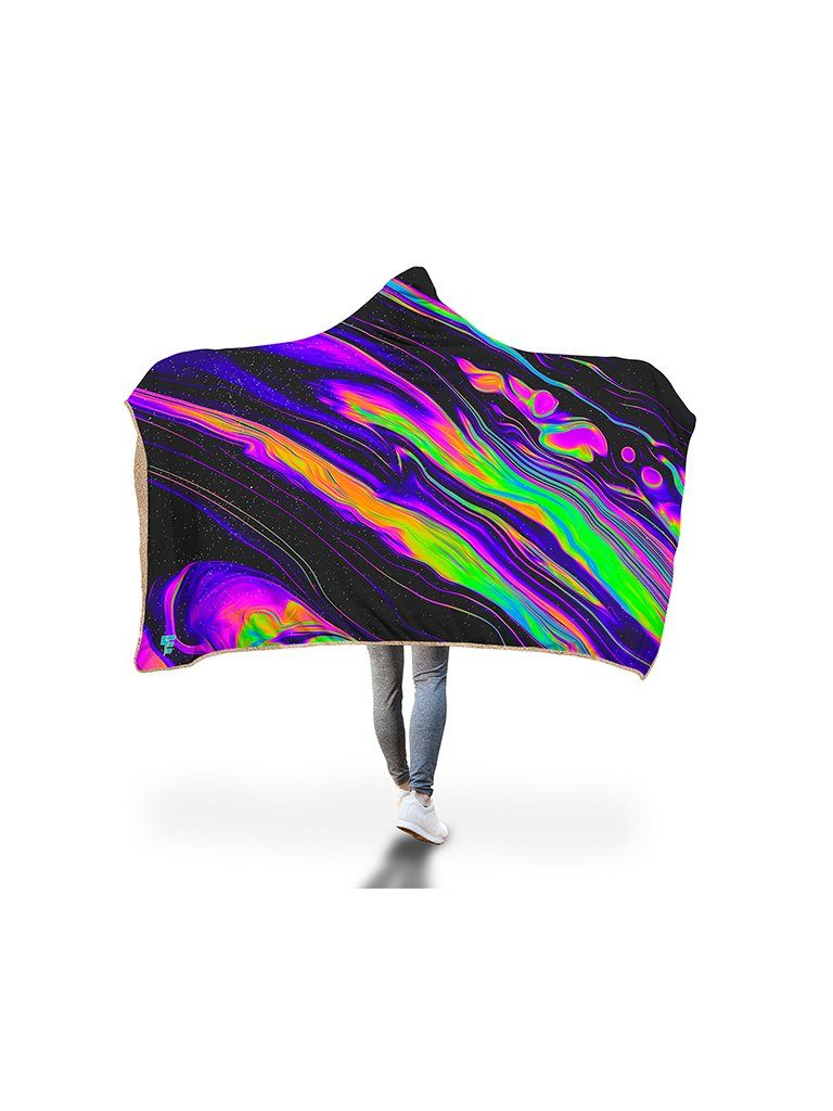 Lately Hooded Blanket Hooded Blanket Electro Threads