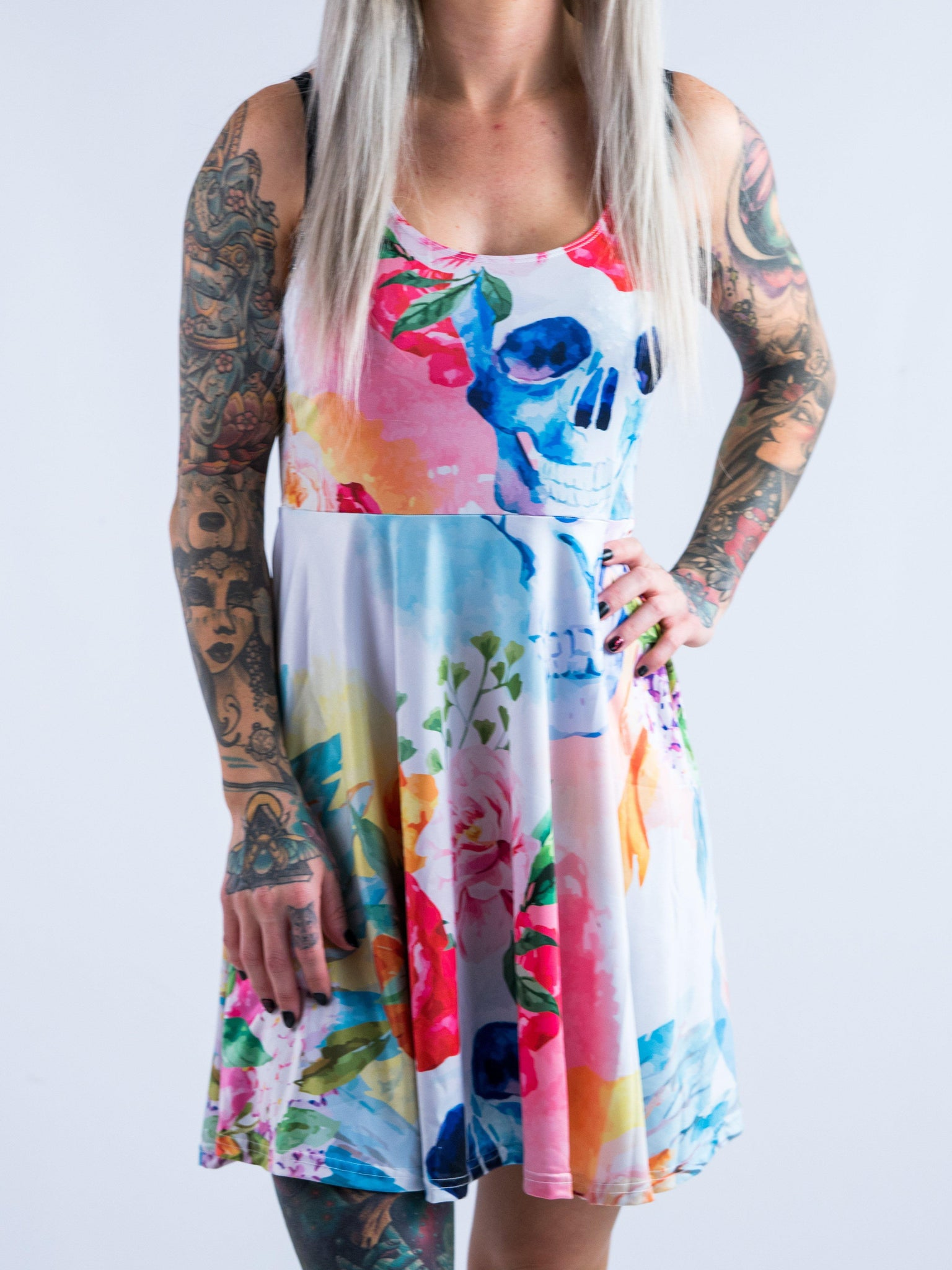 Life And Death Flowy Racerback Dress Racerback Dress T6
