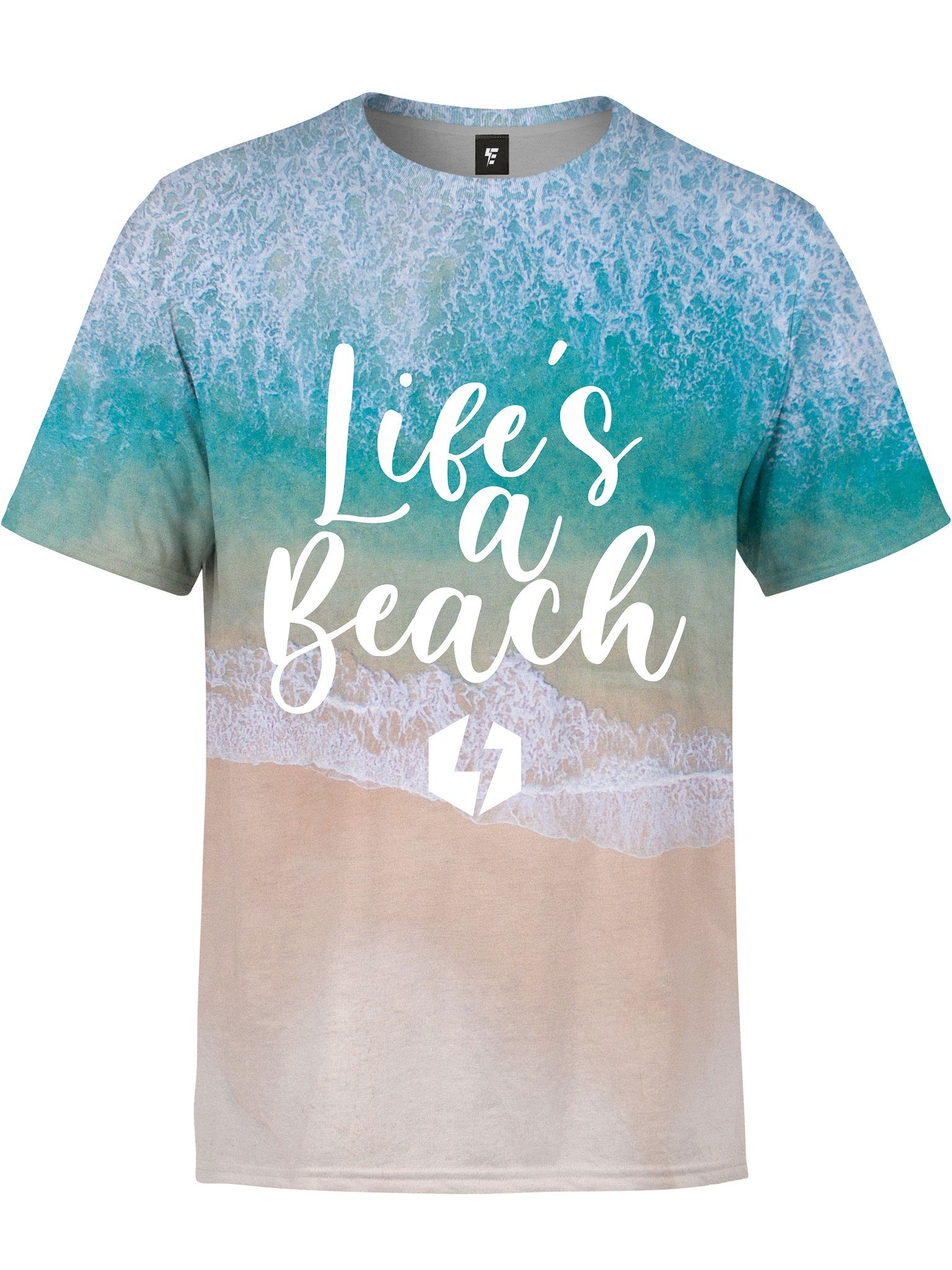 Life's A Beach Unisex Crew T-Shirts Electro Threads
