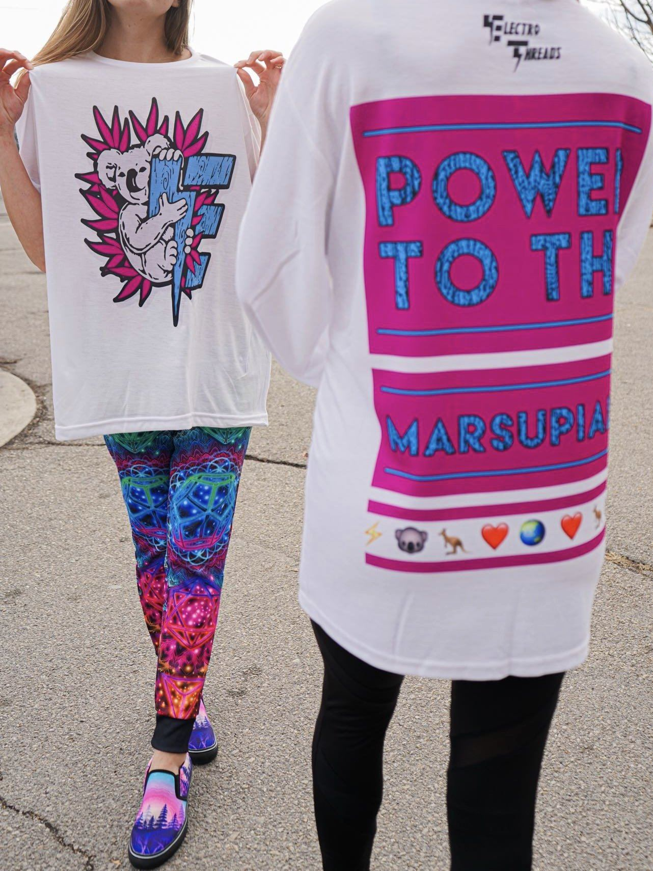 Limited Edition: Power to the Marsupials T-Shirts Electro Threads