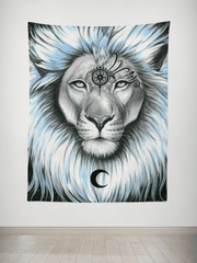 Lion Galaxy Tapestry Tapestry Electro Threads